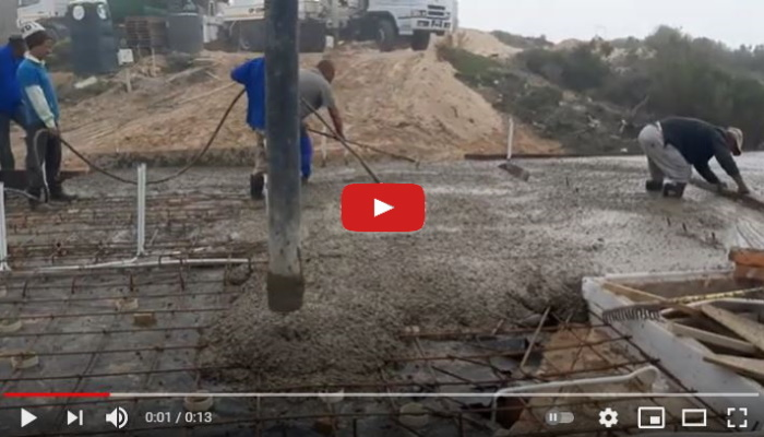 Stilbaai Builders Laying of a concrete slab